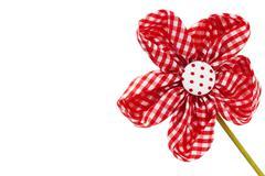 Diagonal red drapery flower blossom Stock Photos