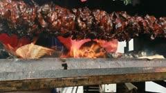 Medieval Footage Elements - Skewer Roast I Stock Footage