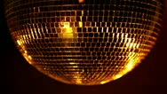 Stock Video Footage of funky discoball spinning