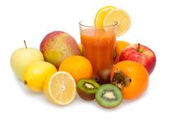 multivitamin juice - stock photo