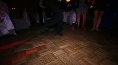 Boy Dancing in Socks at Wedding Reception Stock Footage