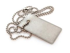 dog tag - stock photo