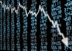 stock market down - stock photo