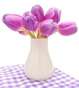 Stock Photo of violet tulips