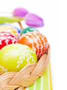easter painted eggs - stock photo