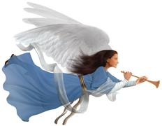 angel on white - stock photo