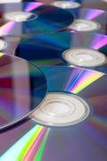 Compact discs background Stock Photos