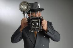 photo journalist - stock photo