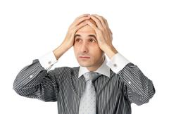 Business thinking about problems Stock Photos