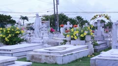 Hispanic cemetery 1 Stock Footage