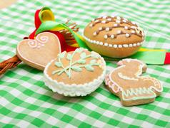 easter gingerbread - stock photo