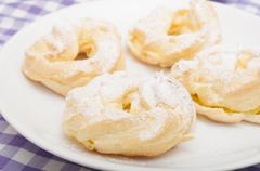 homemade cream puffs - stock photo