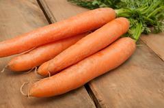 raw carrots - stock photo