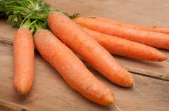 raw carrots - stock photo