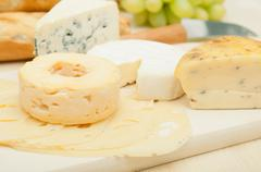 Cheese assortment Stock Photos