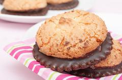 Coconut cookies Stock Photos