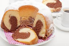 Marble cake Stock Photos
