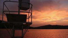 Beautiful Sunset (dock view) Stock Footage
