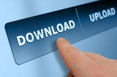 Stock Photo of download button