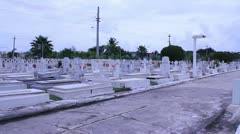 Hispanic cemetery 2 Stock Footage