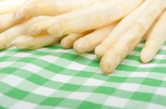Fresh white asparagus Stock Photos