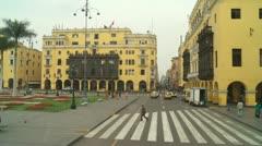 Plaza de Armas, Lima, Peru - stock footage