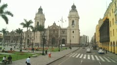 LIMA, PERU: City center - Plaza de Armas - stock footage