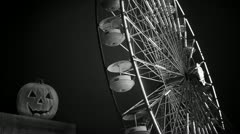 Noir Carnival | Amusement Park | Jack-O-Lantern - stock footage