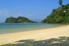 Tropical landscape at Langkawi island - stock photo