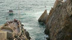 View of La Quebrada. Acapulco, Mexico. Stock Footage