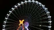 Big wheel, attraction Stock Footage