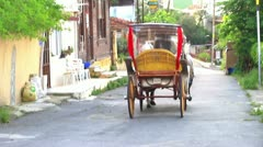 A phaeton at Heybeli Ada Stock Footage