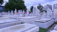 Hispanic cemetery 4 Stock Footage