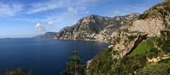 italian amalfi coast - stock photo