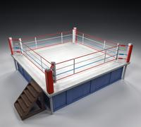 boxing arena - stock illustration
