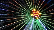 Big wheel, attraction Stock Footage