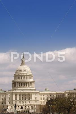 Stock photo of united states capitol vertical