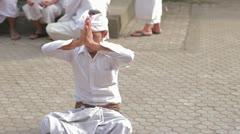Bali Monk - stock footage