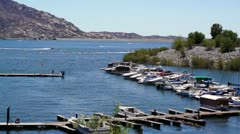 Lake Perris State Recreation Area marina Stock Footage