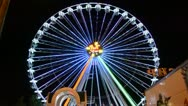 Stock Video Footage of Big wheel, attraction