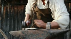 Medieval Footage Elements - Blacksmith and Hammer II - stock footage