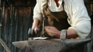 Stock Video Footage of Medieval Footage Elements - Blacksmith and Hammer II