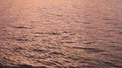 Beautiful sea surface (during sunset) Stock Footage