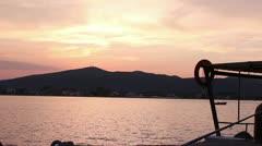 Beautiful Sunset (dock view) _1 Stock Footage