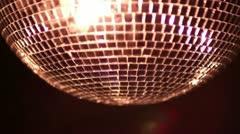 Funky discoball spinning light effect Stock Footage