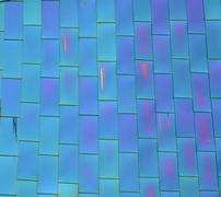 Glass tile windows in office building Stock Photos