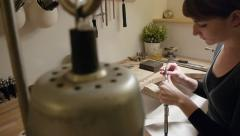 jeweller at work - stock footage
