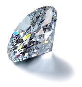 glittering diamond - stock photo