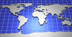 Stock Illustration of 3d earth map