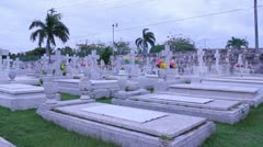 Hispanic cemetery 5 Stock Footage